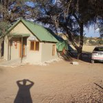 parking next to cabin