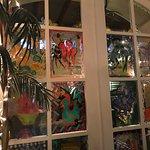 The windows of the restaurant in Hotel Albuquerque