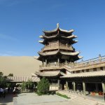 Impressive chinese style temple in the lake complex