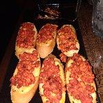 Tandoori chicken briuschetta