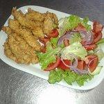 Tomik Chicken strips& salad