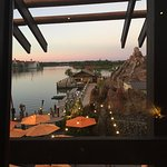 Beautiful sunset view from our table