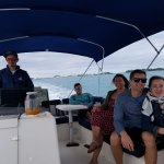 Our Captain, Adrian along with our two children and their spouses - cruising in Bermuda