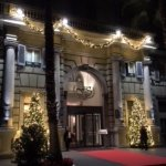 Hotel Savoy entrance - very festive looking