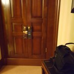 Wardrobe space separate from rest of room which was lovely