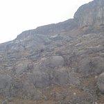 El testimonio de la magnitud y de la fuerza del volcán hace más de diez mil años.