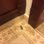maintenance left the batteries on the floor after fixing the lock after a week