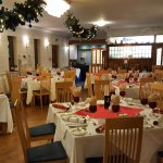 Main dining area (set for a group Xmas party)
