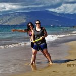 Kamaole Beache II is one of the calmest beaches in Maui. Another is Baby Beach.