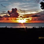 People gather on this beach, Kamaole II, nightly to watch beautiful sunsets.