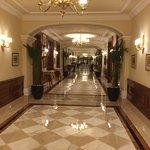 Main hotel corridor leading from lobby / reception