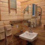 Cabin 9 - bathroom sink with vintage decor