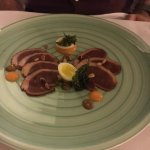 Duck carpaccio