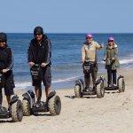 Populære Segway tur på stranden, kan køres i alt slags vejr!