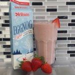 Start off Eggnog Season with our Strawberry Eggnog Smoothie