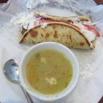 Soup and Sandwich Combo - Chicken Rice Soup and Gyros Sandwich
