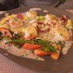 Noix de St Jacques : superbe assiette.
