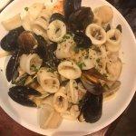 Calamari, muscles, clams