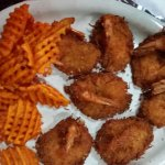 Coconut Shrimp with Sweet Potato Fries