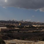 The Jerusalem old city Panoramic view from Mount of Olives