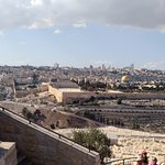 The Jerusalem old city view from Mount of Olives