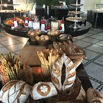 Bread and dessert table