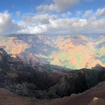 View from the first main lookout at Waimea Canyon.