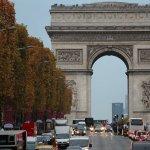 Arc de Triomphe taken from the open top bus