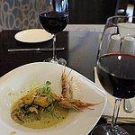 ..a escargot & prawn starter