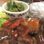 Pot Roast, Vegetables, Baked Potato, Black Bear Diner, Milpitas, CA