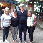 With Julia & Silvio (centre) saying goodbye