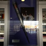 Replica of the 2002 Olympic Torch on display