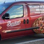 Boston's Pizza delivery van