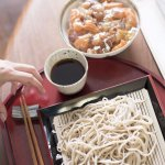 handmade soba noodles and kaisendon!
