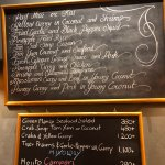 Daily specials and prices.