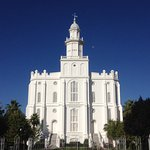 St. George Utah Temple, viewed from across the street