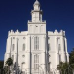 St. George Utah Temple, viewed from outside the grounds