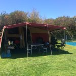 My little Camper Trailer. We couldn't have been happier with Middleton Beach Big4 Caravan Park.