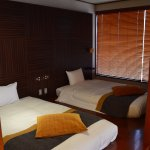 Beds with curtained window
