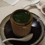 Braised Organic Kale Broth served in Bamboo Cup