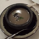 Mushroom Truffle Bisque served in Stone Pot