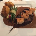 Grilled AAA filet tenderloin w/ Garlic Prawns