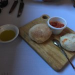 Fresh bread with ajvar