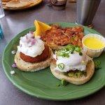 Salmon & Crab Cake Eggs Benedict