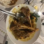 Slow cooked Lamb Shanks on a bed of Creamy Mash and Greens