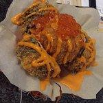 Deep fried crab sushi