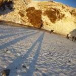 Long winter shadows.