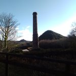 Spoil heap and chimney