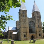 The glorious Southwell MInster bathed in sunshine.. but it looks wonderful in every season.