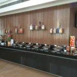 The buffet spread